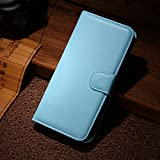 Qiaogle Teléfono Case - Funda de PU Cuero Billetera Clamshell Carcasa Cover para Wiko Wax 4G (4.7 Pulgadas) - FC01 / Azul Moda Elegante estilo