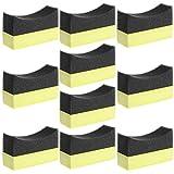 Chiic - Aplicador de Esponja Profesional para neumáticos de Coche, 5 Piezas, 10 Unidades, Color Negro y Amarillo