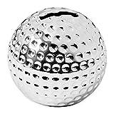 EDZARD Spardose | Sparbüchse Golfball, edel versilbert, Höhe 8 cm, inkl. Anlaufschutz