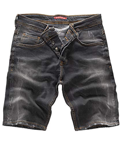 Rock Creek Herren Shorts Jeansshorts Denim Stretch Sommer Shorts Regular Slim [RC-2124 - Anthrazit W31] -