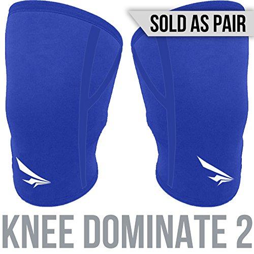 2nd Era Knee Dominate–Premium-Kniebandage aus Neopren Kompressions-Kniebandage Für Elite-Athleten, ideal fürs Powerlifting, Bodybuilding, und Gewichtheben–Verkauft als Paar, blau (Ferse-bar-schnalle)