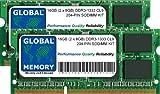 16GB (2x 8GB) DDR31333MHz PC3–10600204-PIN SODIMM Memory RAM Kit für Intel Mac Mini/Mac Mini Server (Mitte 2011)/iMac i5/i7(Mitte 2010)/iMac i3/i5/i7(Mitte/Ende 2011)