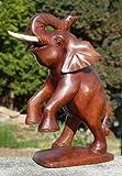 Aufsteigender ELEFANT Holz Afrika Handarbeit Glückselefant Elefant27
