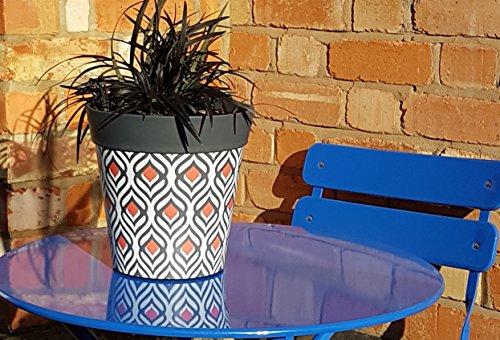 Vaso Esterno Grigio : Hum flowerpots fioriera con pavone grigio vaso di fiori esterno e