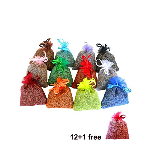 12 saquitos +1 gratis de lavanda ecológica muy aromática - total 130gr - multicolor