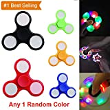 #6: Fidget Spinner with Light Hand Spinner Ultra Speed Tri-Spinner Toy - Colours May Vary