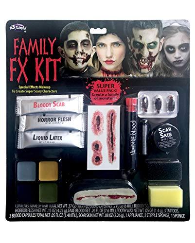 Horror-Shop Halloween Familien Schminkset FX für Halloween & Tag der Toten