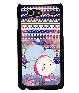 PRINTVISA Cartoon with pattern Premium Metallic Insert Back Case Cover for Samsung Galaxy S Advance - I9070 - D5993