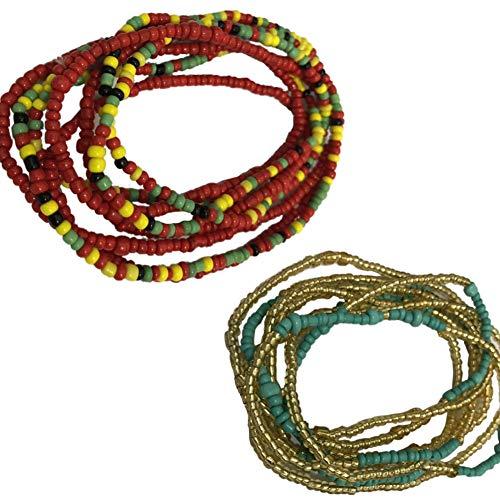 Taille Perlen Bauch Perle, Farbe Wählen Taille Korn. Afrikanische Taille Perlen, Körperkette, Wulstige Bauch-Kette, Taille Kette, Dehnbare Elastische Schnur, Sommer Schmuck, Bikini Schmuck - Taille Perlen