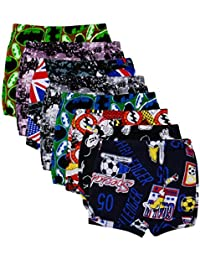 Kids Basket Baby Boys and Girls Kids Brief Printed Cotton Panty Drawer Inner Underwear Combo Pack of 8 Pc