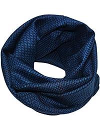 brit-M Women's Scarf Blue Royal Blau, Dunkelblau, kleine Terracotta Streifen One size