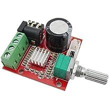 Aihasd 12V Mini Hi-Fi PAM8610 2X10W Dual Channel Clase D Audio Amplificador Estéreo módulo