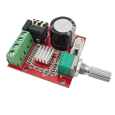 PAM8610 Mini 2.0 Salut-fi stéréo électronique Audio assemblé Amplificateur Portable AMP 10W + 10W 2 canaux de classe D DC 12V numérique Booster Amplificateur Conseil Module