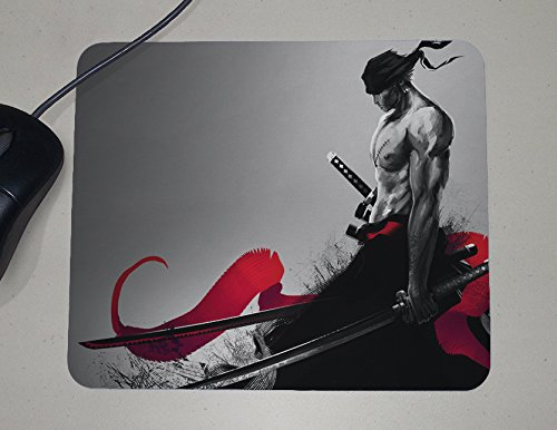 One Piece - Roronoa Zoro - Pirate Hunter - Japanese Anime - Novelty Gift - Custom Name Mouse - Pad Anime Mouse