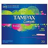 Tampax Tampons applicateur centraline Parcours Super frais (20) (Lot de 2)