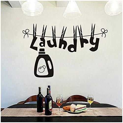 Waschküche Wandaufkleber Wohnzimmer Vinyl Wandtattoo für Balkon Lustige Muster Wandaufkleber Fshion Dekoration farbe-1 36x57 cm