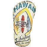 Dadeldo Living & Lifestyle Holzschild Flip Flop Hawaii Design MDF 48x24cm bunt Wand-Bild Deko (Design 2)