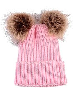 WINWINTOM Neuge borene nette Mode behalten warme Winter Hüte Strickwolle Hemming Hut