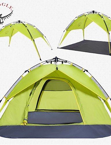 ZQ Militärische Zelt (blau/hellgrün/grün, 3bis 4Personen)–Durchlässigkeit Feuchtigkeit/A-Test, Armeegrün