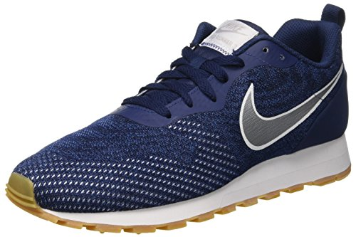 Nike MD Runner 2 Eng Mesh, Zapatillas para Hombre, Azul (Midnight Navy/Metallic Silver-Gym Blue 402), 40 EU