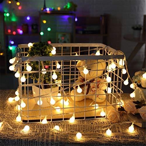 YERTYY Schnur-Licht-LED-Leuchten dekorative Leuchten Patio-Party Energy Saving Hohe Helligkeit für Geburtstag Indoor Outdoor Nutzung warm White 1.5m
