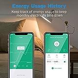 Etekcity WLAN Smart WiFi Plug Steckdose fernbedienbar für Amazon Alexa, Google Home und IFTTT, Kein Hub erforderlich, mit App Steuerung und Verbrauchsanzeige Timer - 6