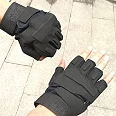 Lepakshi 1 Xl: Tactical Gloves Military Armed Army Paintball Shooting Airsoft Combat Anti-Skid Half Finger Gloves Motorcycle Body Building