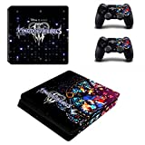 THTB Playstation 4 Slim + 2 Controller Aufkleber Schutzfolien Set - Kingdom Hearts (3) /PS4 S