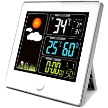 Stazione meteo Color My Day con schermo LCD a colori–Radiocomandato–Sensore Esterno