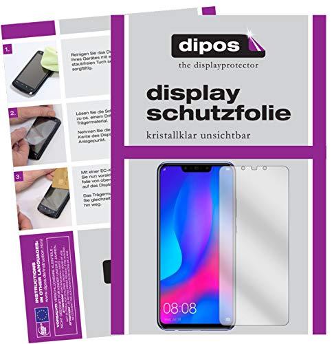 dipos I 4X Schutzfolie klar passend für Huawei Nova 3i Folie Bildschirmschutzfolie (2X Vorder- und 2X Rückseite)