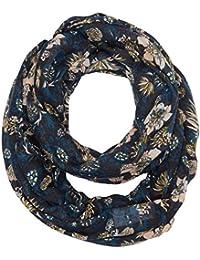 TOM TAILOR Denim Damen Umschlagtuch loop scarf with flower print