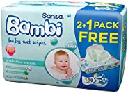 Sanita Bambi Protective Cream, Promo Pack, 168 Wet Wipes