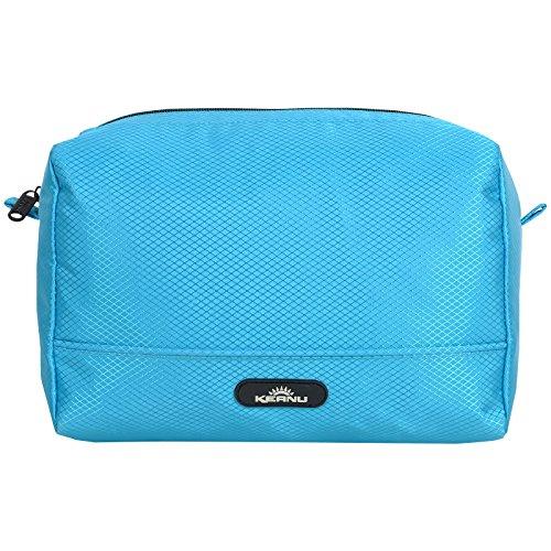 Tasche Große Kosmetik Zipper (Durchdachte Kosmetik Tasche wasserabweisend KEANU :: 4 Einschubfächer Innen, RV Fach Innen, viel Stauraum :: Shower Bag Kulturtasche Washbag (Türkis))