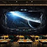 Benutzerdefinierte Fototapete Cosmic Space Cabin Raumschiff Wandmalerei Restaurant Hotel Internet Gaming Room Wandbild Wandpapier 3D 350x245cm