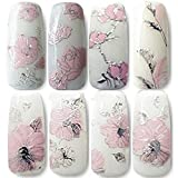 Pegatinas para uñas Oxforder, 108 unidades con diseño de flores doradas 3D. Adhesivos decorativos para uñas