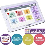 FACILOTAB Tablette L 10,1 Pouces WiFi/3G+ - 32 Go - Android 7 (Interface simplifiée pour Seniors)
