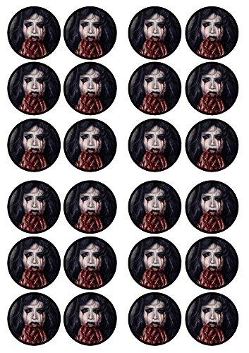 Vampire Halloween Spuk-essbarem Premium Stärke Süße Vanille, Wafer Reispapier Cupcake Topper/Dekoration