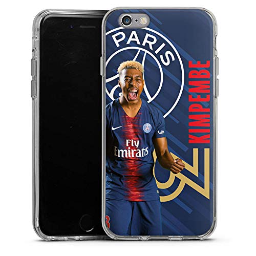 DeinDesign Apple iPhone 6 Coque en Silicone Étui Silicone Coque Souple Paris Saint-Germain Produit sous Licence Officielle Kimpembe