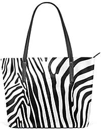 COOSUN Zebra Motif PU Sac bandoulière en Cuir Sac à Main et Sacs à Main Sac  fourre-Tout pour Les Femmes Moyen… 5cac8cd5c604