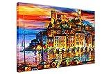 CANVAS IT UP Cannes Frankreich von Leonid Afremov auf Rahmen Leinwand Bilder New Modern Art Prints Wand Decor Scenery Größe: 101,6x 76,2cm (101x 76cm)
