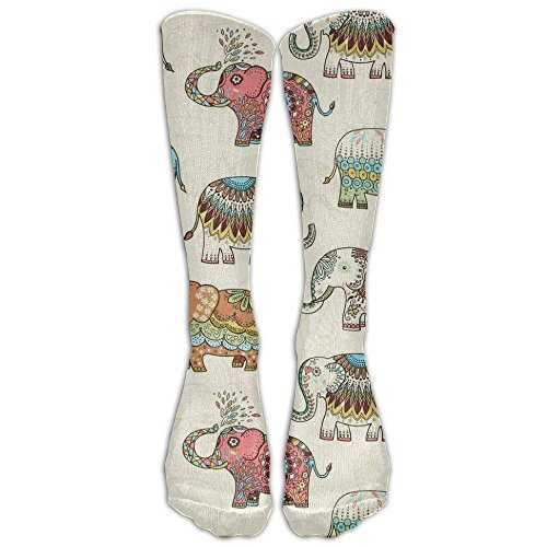 Aeykis Timeless Treasures Embellished Elephants CreaKnee High Graduated Compression Socks (Girls Embellished Dress)