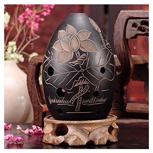 OKarna 8 Löcher Ocarina Schwarz Ton Xun Musikinstrument for Kinder Anfänger Geschenk Chinesische Flöte Xun Instrument Keramik Ocarina Okarina flöte (Color : C)