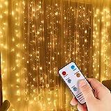 Classe di efficienza energetica A Matrimoni e Feste Natale,Giardino Tenda luminosa,VIFLYKOO 3 * 3 metro 304 Led Luci Stringa con 8 Effetti di Luce Impermeabile per Decorare Interni ed Esterni