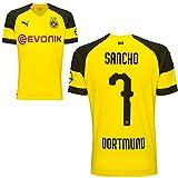 Puma BVB Borussia Dortmund Fußball Home Trikot 2018 2019 Herren Heimtrikot Jadon Malik Sancho 7 Gr S