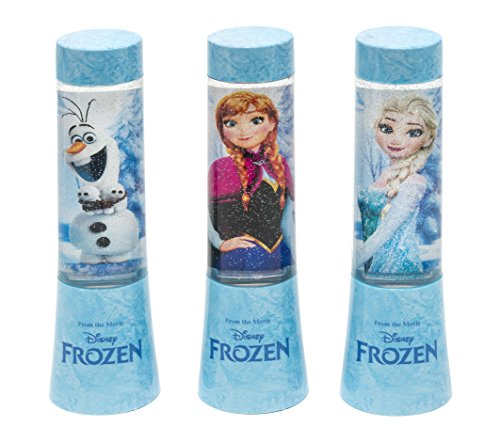 Joy Toy 68894_12 Disney Frozen (Eiskönigin) LED-Glitzerlampen in Tubenverpackung- Batterie betrieben, 3 verschiedene Motive, 4,5 x 4,5 x 15 cm (Partys Dekorationen Frozen Für)