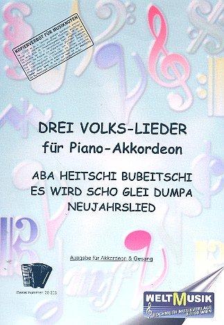 3 Volkslieder für Piano-Akkordeon
