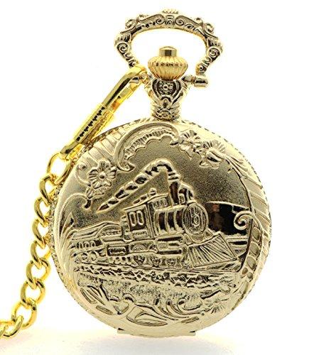 new-brand-mall-unisex-antique-case-quartz-pocket-watch-train-golden