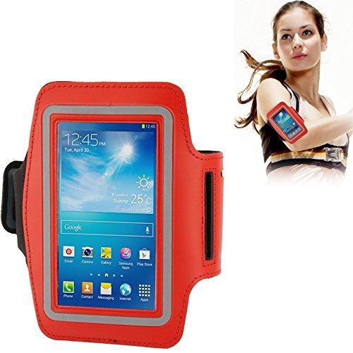 Wkae Case Cover Universal-PU-Sport Armband mit Kopfhörer Loch für iPhone 6 / Samsung Galaxy S IV / i9500 / S III / i9300 ( Color : Blue ) Red
