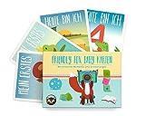 Friendly Fox Baby Karten - Meilensteinkarten für das 1. Jahr - ideales Geschenk zur Babyparty, Geburt, Taufe - für Jungen & Mädchen