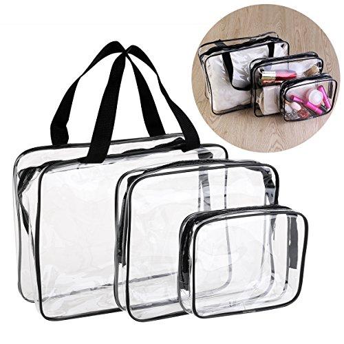 VORCOOL 3 Stück Kulturbeutel Wasserdicht Kosmetiktasche Kulturtasche Transparent